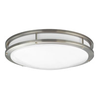 Progress Lighting Modular Fluorescent 1 Light Flush Mount in Brushed Nickel P7250-09EBWB