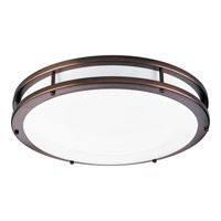 Modular Fluorescent 1 Light 18 inch Urban Bronze Flush Mount Ceiling Light