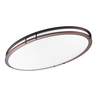 Modular Fluorescent 2 Light 33 inch Urban Bronze Flush Mount Ceiling Light