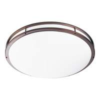 Progress Lighting Modular Fluorescent 3 Light Flush Mount in Urban Bronze P7252-174EBWB