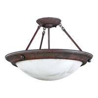 Progress Lighting Eclipse 3 Light Semi-Flush Mount in Cobblestone P7319-33EBWB