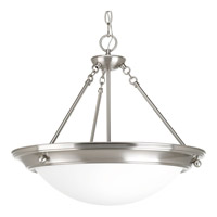Progress Eclipse 3 Light Inverted Foyer Pendant in Brushed Nickel P7322-09WB