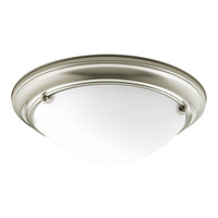 Eclipse 2 Light 15 inch Brushed Nickel Flush Mount Ceiling Light
