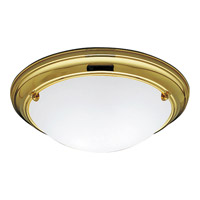 Progress Lighting Eclipse 2 Light Close-to-Ceiling in Polished Brass P7324-10EBWB