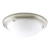 Eclipse 3 Light 19 inch Brushed Nickel Flush Mount Ceiling Light