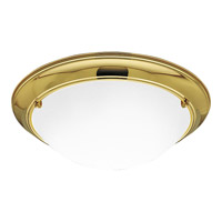 Eclipse 3 Light 19 inch Polished Brass Close-to-Ceiling Ceiling Light