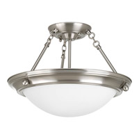 Progress Lighting Eclipse 2 Light Close-to-ceiling in Brushed Nickel P7327-09WB