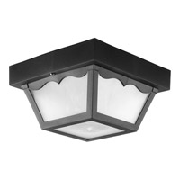 Progress Lighting Non-Metallic 1 Light Outdoor Ceiling Lantern in Black P7340-31WB