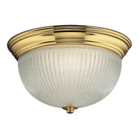 Melon 2 Light 13 inch Polished Brass Flush Mount Ceiling Light in Bulbs Included