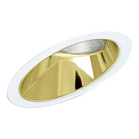 Recessed Lighting Specular Gold Recessed Sloped Ceiling Trim in Gold Alzak