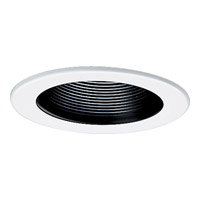 Progress Lighting Step Baffle Trim Recessed Trim in Black P8037-31