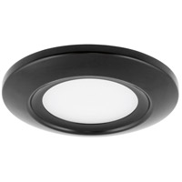 Progress P8108-31-30K P8108 Series LED 6 inch Black Flush Mount Ceiling Light