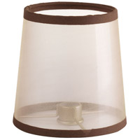 Progress P860001-001 Allaire Champagne Organza with Espresso Trim Shade Design Series