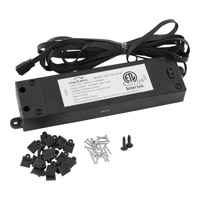 Hide-a-Lite 4 Black 5 inch LED Tape Transformer