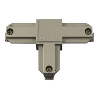 Alpha Trak Brushed Nickel Track Connector Ceiling Light in Outside Polarity