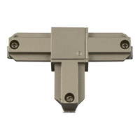 Alpha Trak Brushed Nickel Track Connector Ceiling Light in Inside Polarity