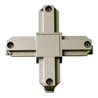 Progress Lighting Cross Connector Track Component in Brushed Nickel P8723-09