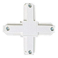 Progress Lighting Cross Connector Track Component in Bright White P8723-28