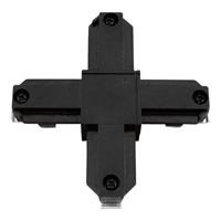 Progress Lighting Cross Connector Track Component in Black P8723-31
