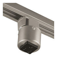 Progress Lighting Grounded Convenience Outlet Adapter Track Component in Brushed Nickel P8751-09