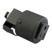 Progress Lighting Grounded Convenience Outlet Adapter Track Component in Black P8751-31