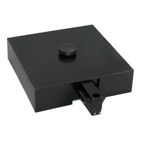 Progress Lighting T-Bar End Feed With Canopy Cover Track Component in Black P8760-31