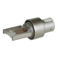 Illuma-Flex Brushed Nickel Flex Track to Alpha Track Adapter Ceiling Light