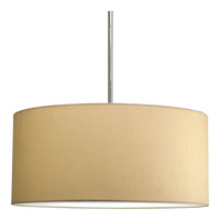 Progress Lighting Markor Pendant System Shade only in Beige Silken Fabric P8825-01