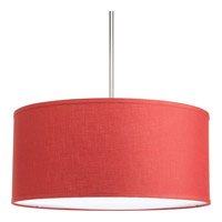 Progress Lighting Markor Drum Shade in Crimson P8830-39