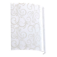 Arch White 7 inch Fabric Shade