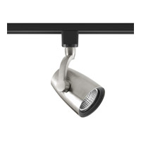Single Arm 1 Light Brushed Nickel Track Head Ceiling Light in 3000K