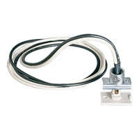 Progress Lighting Anywhere Power Feed Track Component in Bright White P9121-28