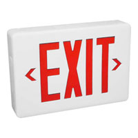 Progress Lighting Exit Sign Wall Mount in White PE001-30