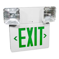 Progress Lighting Exit Sign 2 Light Wall Mount in White PE004-30