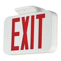 Progress LED Exit Sign in White PE008-30