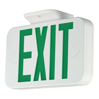 Progress LED Exit Sign in White PE009-30