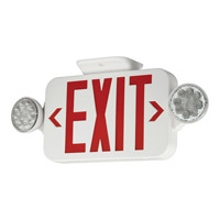 Progress LED Exit Sign in White PE010-30
