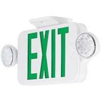 Safety Light LED 18 inch White Exit Sign Ceiling Light in Green
