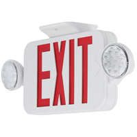 Safety Light LED 18 inch White Exit Sign Ceiling Light in Red