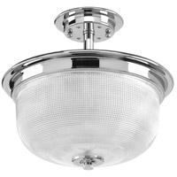 Progress P2334-15 Archie 2 Light 12 inch Polished Chrome Semi-Flush Mount Convertible Ceiling Light