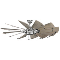 Progress P250000-081 Springer 60 inch Antique Nickel with White Barnwood Blades Ceiling Fan