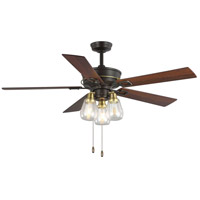 Teasley 56 inch Architectural Bronze with Reversible Distressed Walnut/American Walnut Blades Ceiling Fan