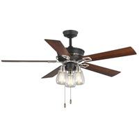 Progress P250004-143 Teasley 56 inch Graphite with American Walnut/Grey Weathered Wood Blades Ceiling Fan