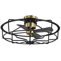Progress P250006-031 Loring 33 inch Black with Matte Black Blades Ceiling Fan