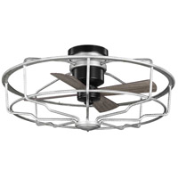 Progress P250006-141 Loring 33 inch Galvanized with Matte Black Blades Ceiling Fan
