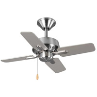 Progress P250008-009 Drift 32 inch Brushed Nickel with Reversible Silver/Driftwood Blades Ceiling Fan
