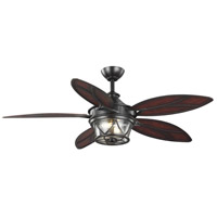 Progress P250034-129-WB Alfresco 54 inch Architectural Bronze with Aged Bamboo Blades Ceiling Fan