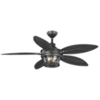 Progress P250034-171-WB Alfresco 54 inch Blistered Iron with Pewter Blades Ceiling Fan