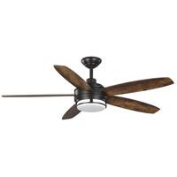 Progress P250036-129-30 Albin 54 inch Architectural Bronze with Distressed Walnut Blades Ceiling Fan Progress LED