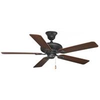 Progress P2521-80 AirPro 52 inch Forged Black with Dark Walnut/Dark Cherry Blades Ceiling Fan
